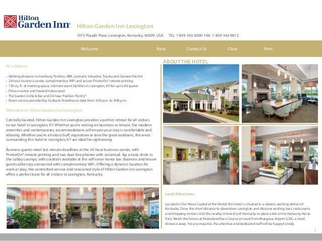 Hilton Garden Inn Lexington Ky Hotel Ebrochure
