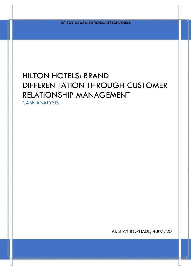 hilton hotel crm case study
