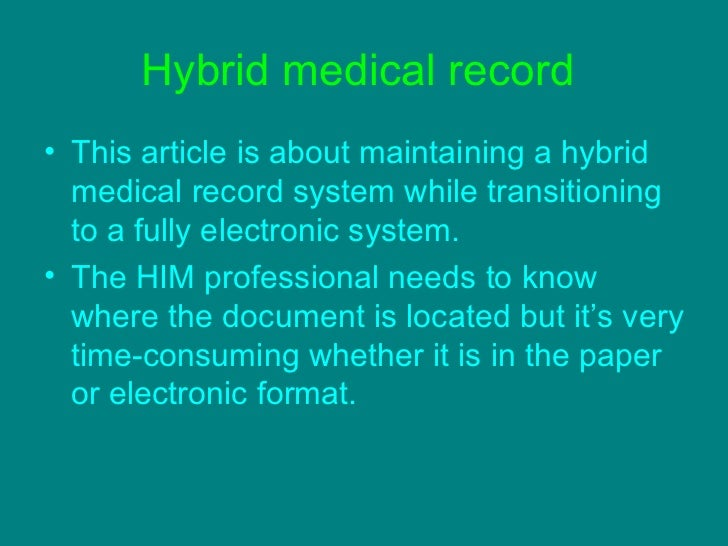 hybrid medical record