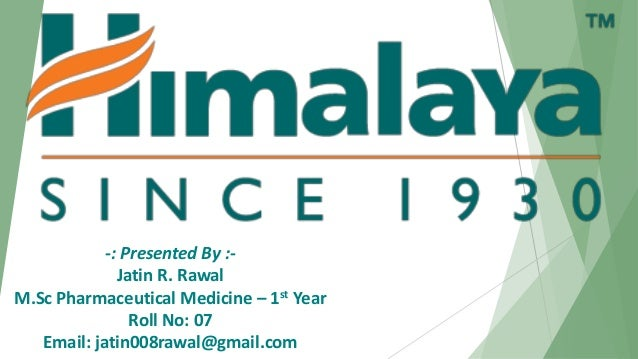 -: Presented By :- Jatin R. Rawal M.Sc Pharmaceutical Medicine – 1st Year Roll No: 07 Email: jatin008rawal@gmail.com