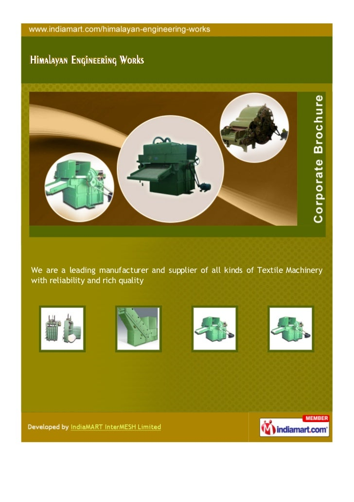 We are a leading manufacturer and supplier of all kinds of Textile Machinerywith reliability and rich quality