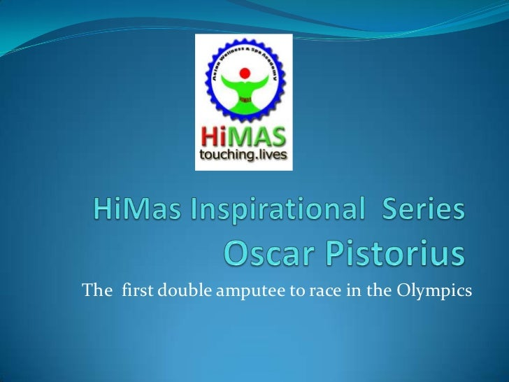 The first double amputee to race in the Olympics