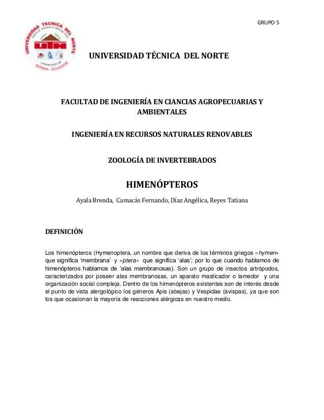 GRUPO 5 UNIVERSIDAD TÉCNICA DEL NORTE FACULTAD DE INGENIERÍA EN CIANCIAS AGROPECUARIAS Y AMBIENTALES INGENIERÍA EN RECURSO...