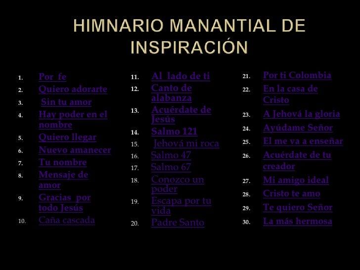Himnario manantial de inspiracion