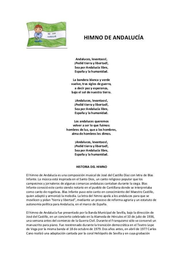 Himno De Andalucia Letra Y Origen Primera Grabacion Historica