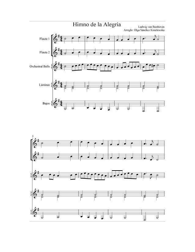 Himno De La Alegria Flauta Y Placas