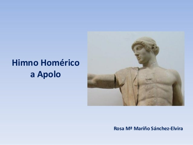 Himno Homérico a Apolo  Rosa Mª Mariño Sánchez-Elvira