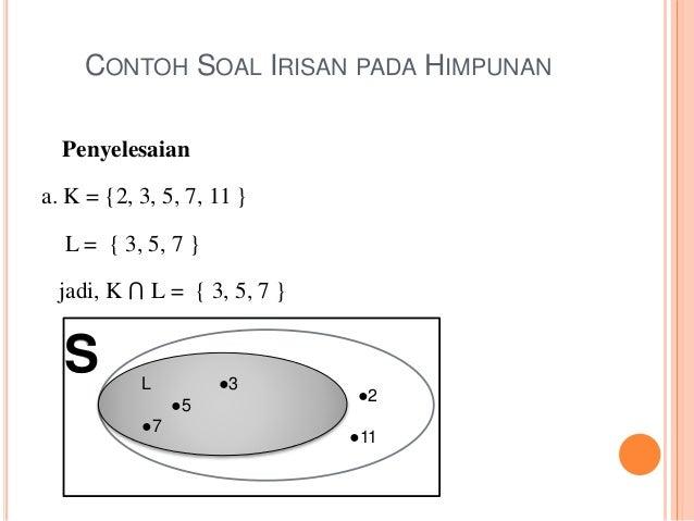 Matematika ekonomi himpunan buatlah diagram venn dan arsirlah daerah yang menyatakan k l 6 contoh soal irisan pada himpunan ccuart Gallery