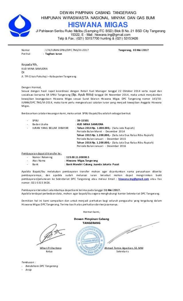DEWAN PIMPINAN CABANG TANGERANG HIMPUNAN WIRASWASTA NASIONAL MINYAK DAN GAS BUMI HISWANA MIGAS Jl Pahlawan Seribu Ruko Mal...