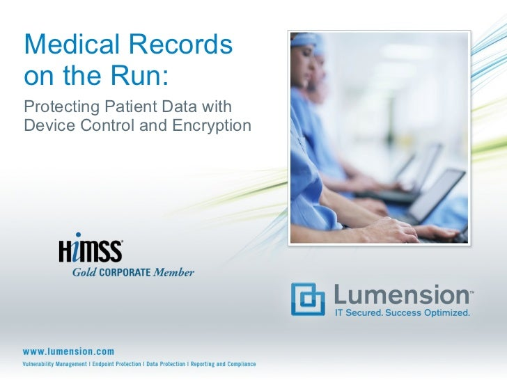 Medical Records on the Run: Protecting Patient Data with Device Control and Encryption