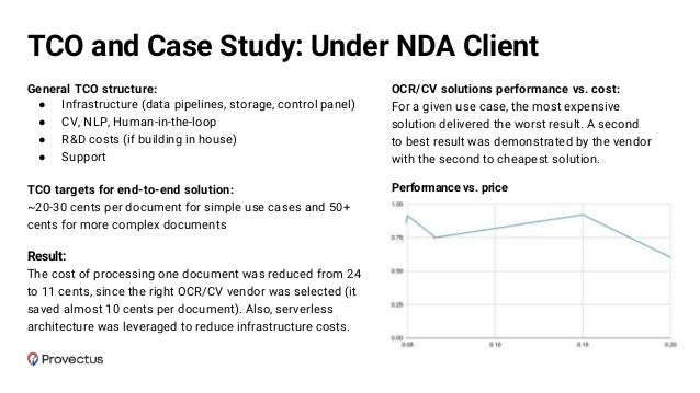 Buy vs. Customize vs. Build Cloud OCR + extraction APIs vs. Custom model In cases with high volume of documents, it's wort...