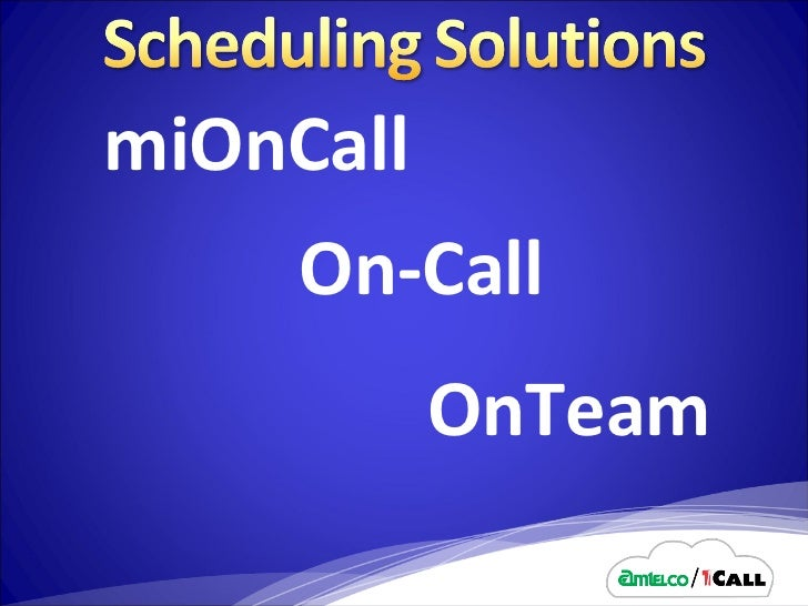 miOnCall On-Call OnTeam