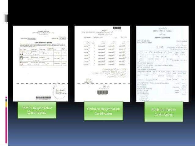 Nadra Death Certificate Form Pdf