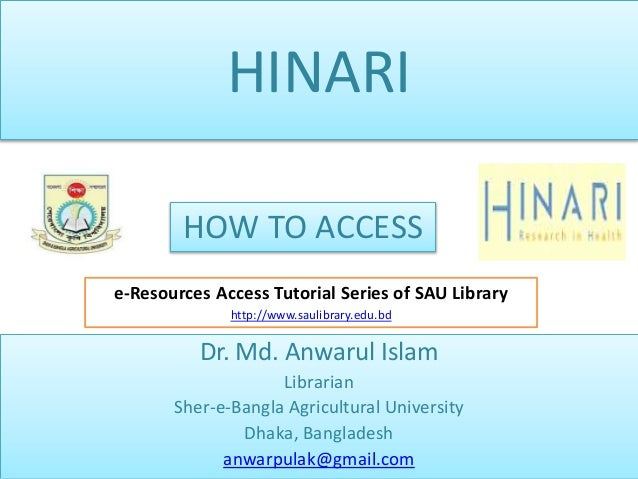 HINARI : How to access