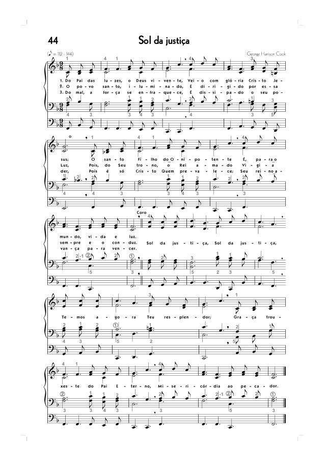 hinario 5 ccb para organista