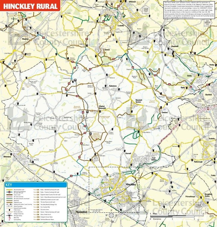 This map is based upon Ordnance Survey material with the permission ofHINCKLEY RUrAL                                    Or...