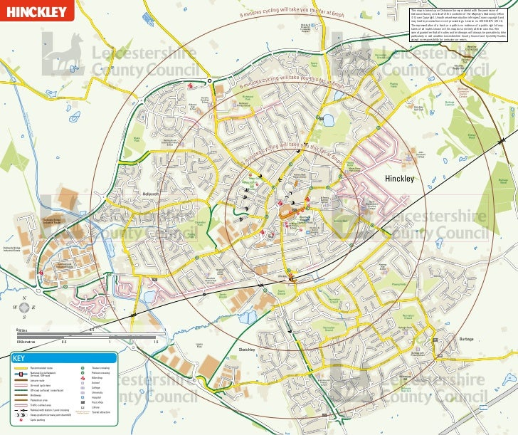 HINCKLEY                                                   This map is based upon Ordnance Survey material with the permis...