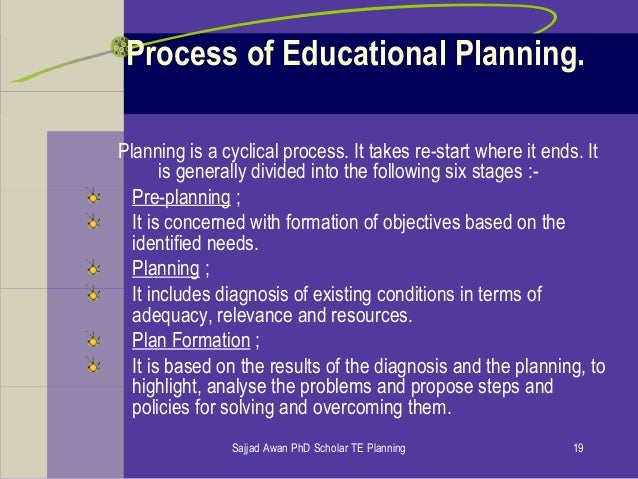 phd thesis in educational planning