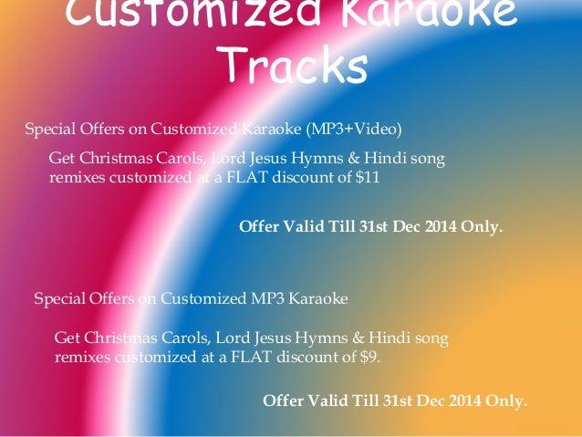 karaoke christmas hymns