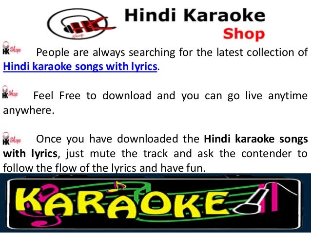 free karaoke hindi songs with lyrics online