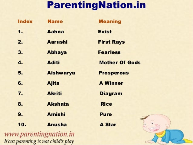 Hindu Baby Girl Names Welocome To ParentingNation 2
