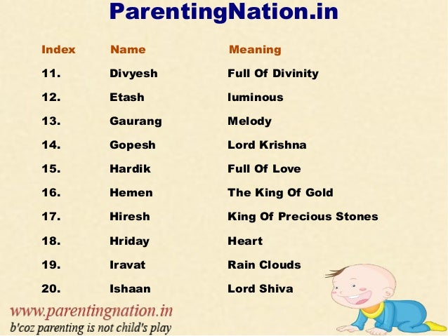 hindu boy baby names with meanings