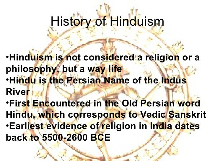 an introduction to the history of the religion of hinduism