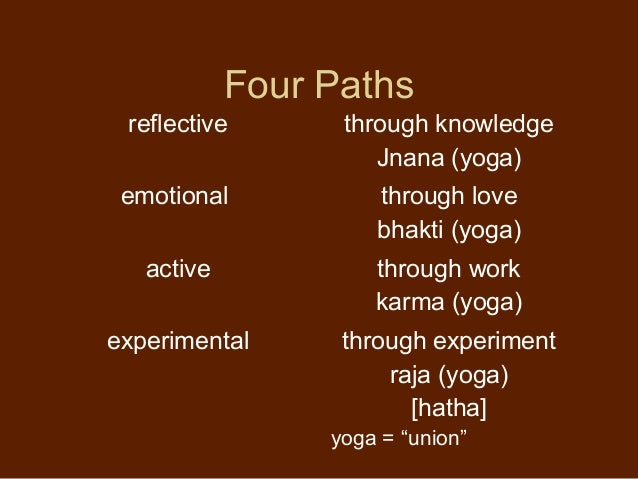 4 yoga paths of hinduism