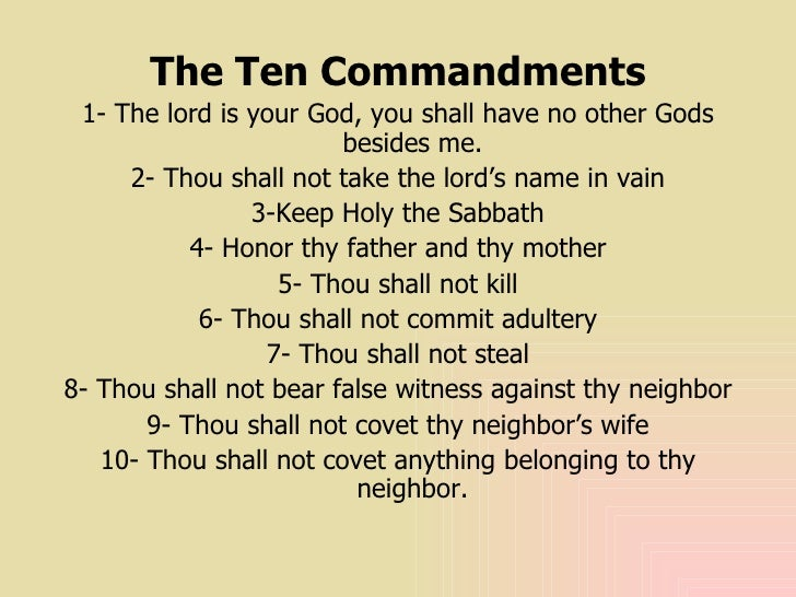 the teachings of the ten commandments of the old testament Are the ten commandments really the are based on the morals of the old testament laid out in the commandments the teachings of.