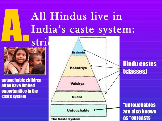 hinduism caste system Now, caste-system by itself is something innocuous, you can see it as a division of labour it is the caste-based discrimination which is bad an important point : caste system is a feature of indian subcontinent, and not just the hindus muslims, sikhs, and christians in india too end up practicing caste-based.