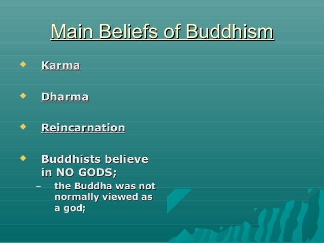 Core Beliefs In Buddhism
