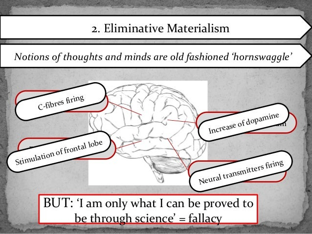 eliminative materialism and the mind body problem What is materialism there have been big changes since descartes introduced his version of the mind/body problem in the 17th century.