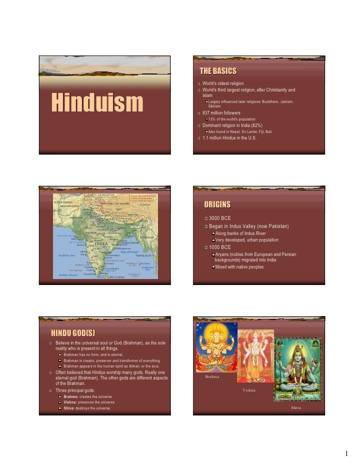THE BASICS                                                                     World's oldest religion                    ...