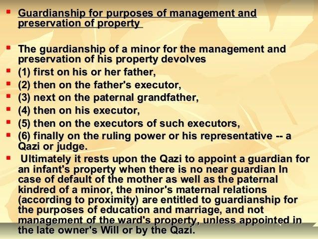 Guardianship And Property Management Act