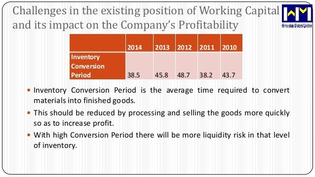 wcm effect on profitability Significant effect of working capital on firm's profitability the inference drawn from the study would be able to provide the basis for rethinking the practices of working capital management for competitive survival.