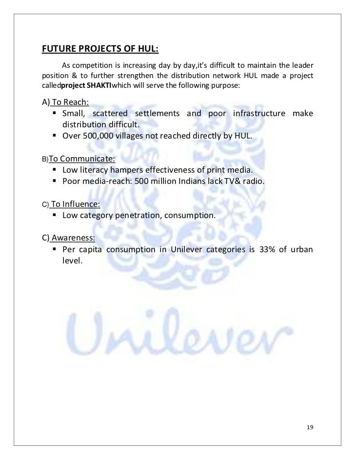 conclusion of hul Hindustan unilever limited human resource information system business essay  hul is a subsidiary of unilever,  conclusion:- thus studying of the.