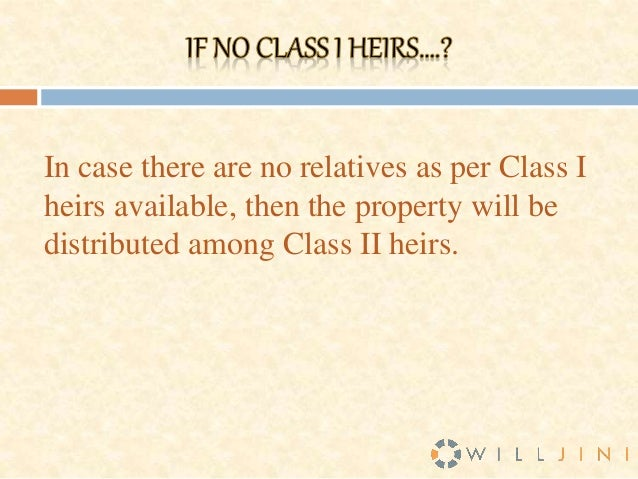 class i legal heirs
