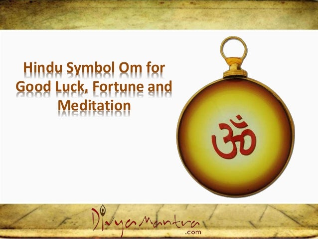 Hindu Symbol Om For Good Luck