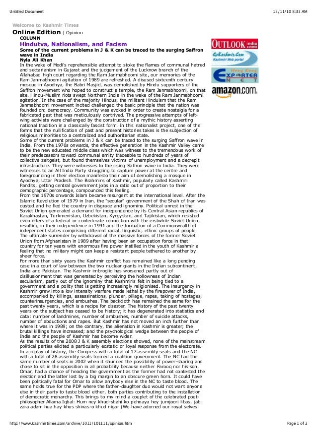 13/11/10 8:33 AMUntitled Document Page 1 of 2http://www.kashmirtimes.com/archive/1011/101111/opinion.htm Welcome to Kashmi...