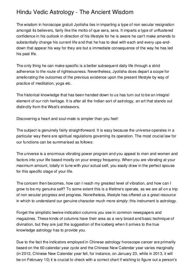 Hindu Vedic Astrology - The Ancient Wisdom