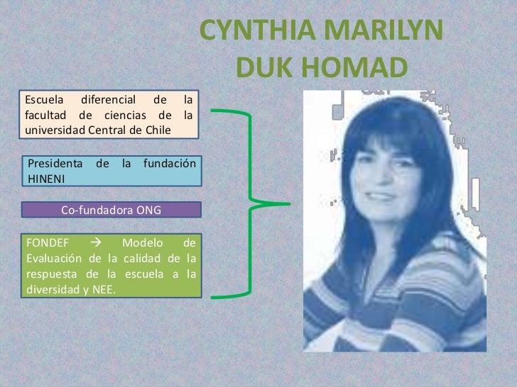 CYNTHIA MARILYN                                   DUK HOMADEscuela diferencial de lafacultad de ciencias de launiversidad ...