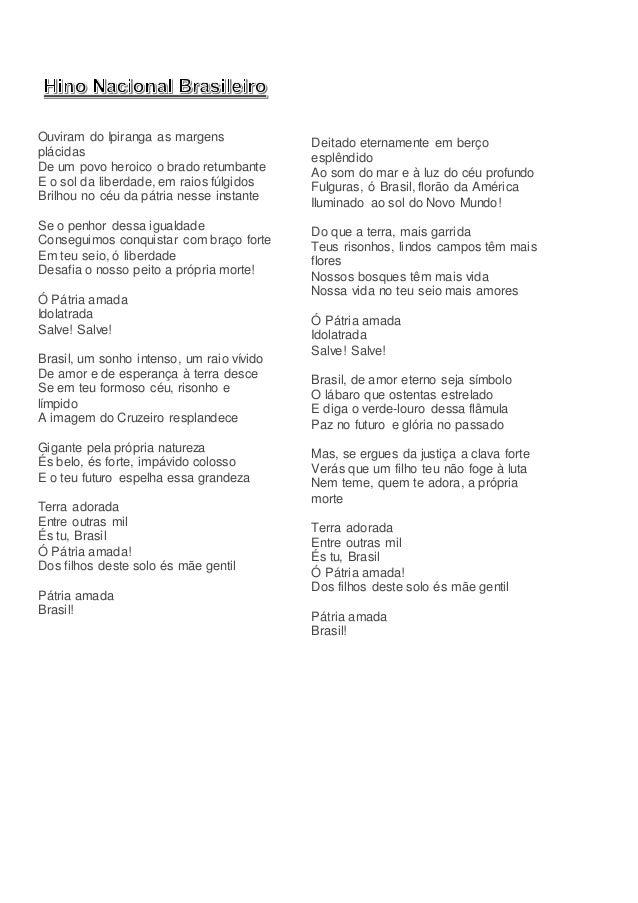 Hino nacional brasileiro letra