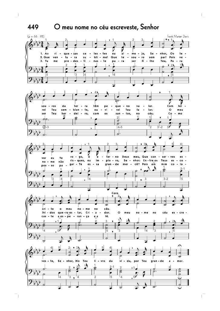 ÍNDICE GERAL                          Os hinos assinalados com asterisco ( )                          são exclusivos para ...