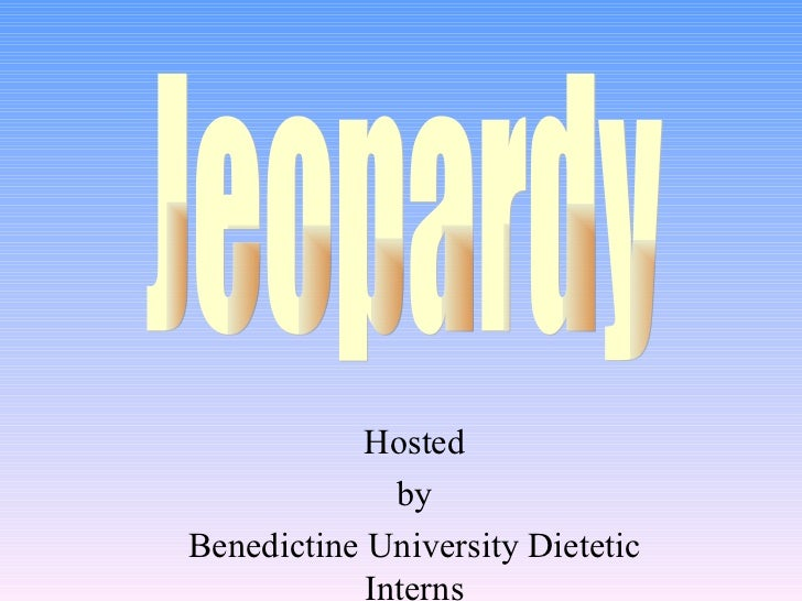 Hinsdale Nutrition Jeopardy Template