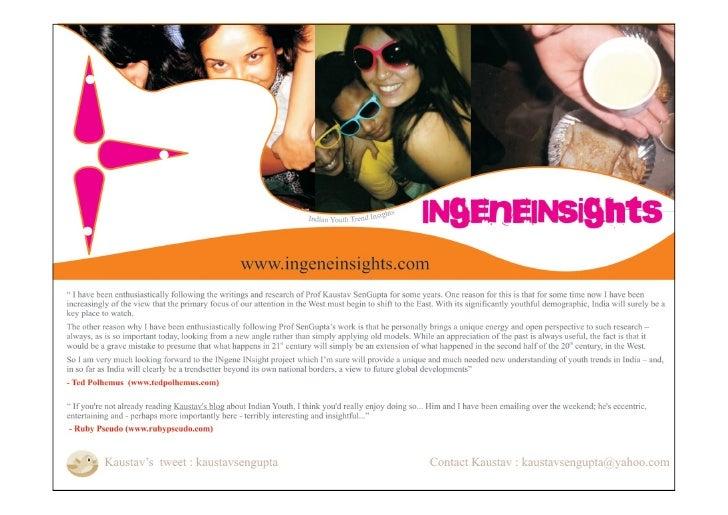 www.ingene.blogspot.com www.ingeneinsights.com  kaustavsengupta@yahoo.com