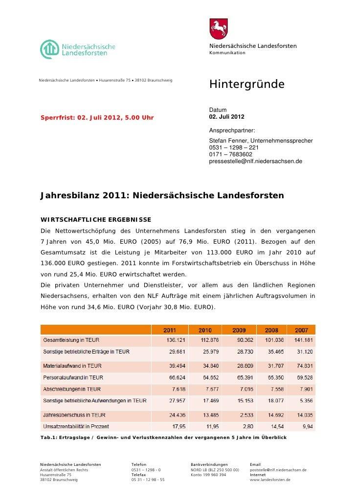 Niedersächsische Landesforsten                                                                                  Kommunikat...