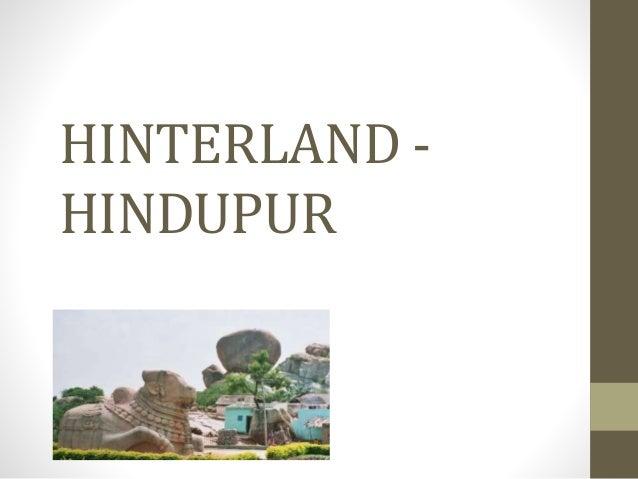 HINTERLAND - HINDUPUR