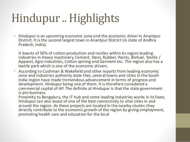 Oppurtunities in Hinterland hindupur Slide 2
