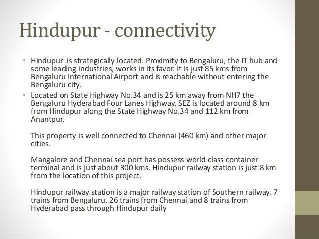 Oppurtunities in Hinterland hindupur Slide 3