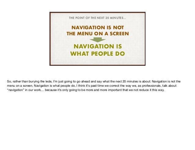 What We Talk About When We Talk About Navigation (IA Conf 2019) Slide 2